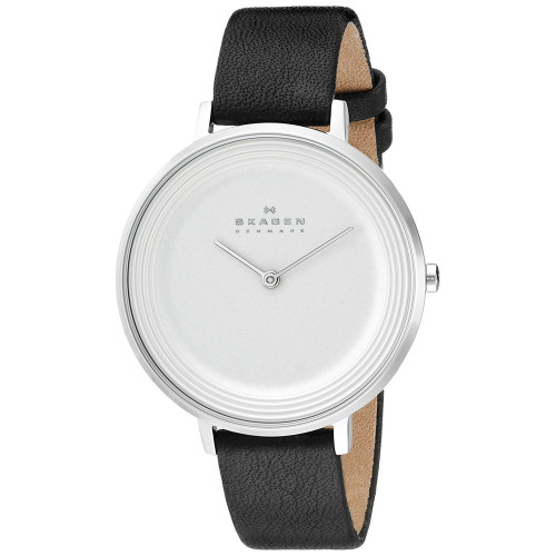 Skagen SKW2261 Ditte White Dial Black Leather Womens Watch
