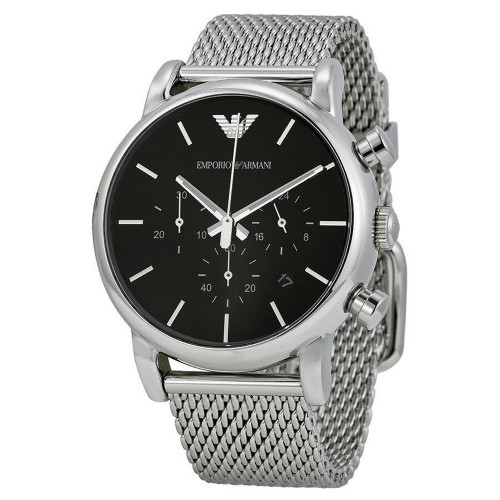 Emporio Armani AR1811 Classic Chronograph Mesh Stainless Steel Mens Watch