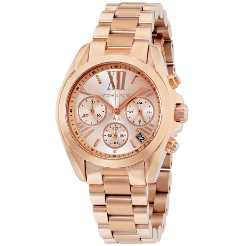 Michael Kors MK5799 Bradshaw Chronograph Rose-tone Stainless Steel Womens Watch