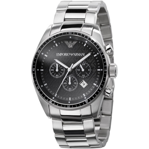 Emporio Armani AR0585 Sportivo Chronograph Stainless Steel Mens Watch