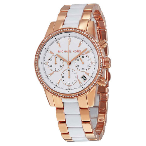 e93d86256afa Quick view · Add to Cart. Compare. Michael Kors MK6324 Ritz Rose-tone  Stainless Steel Chronograph Womens Watch.  275.00  147.97