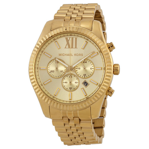 Michael Kors MK8281 Lexington Gold-tone Stainless Steel Chronograph Mens Watch