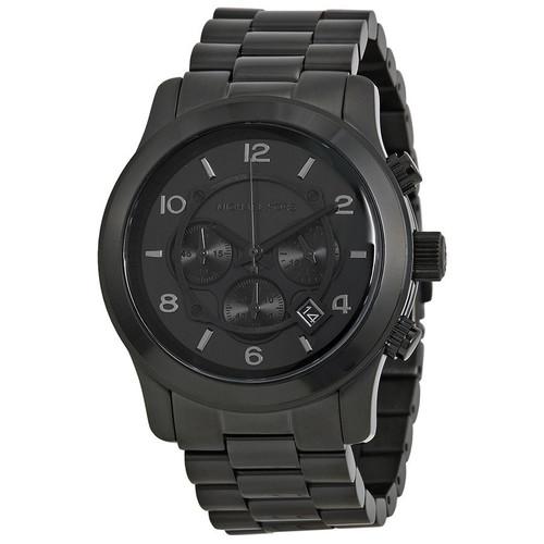Michael Kors MK8157 Runway Chronograph Black Stainless Steel Mens Watch