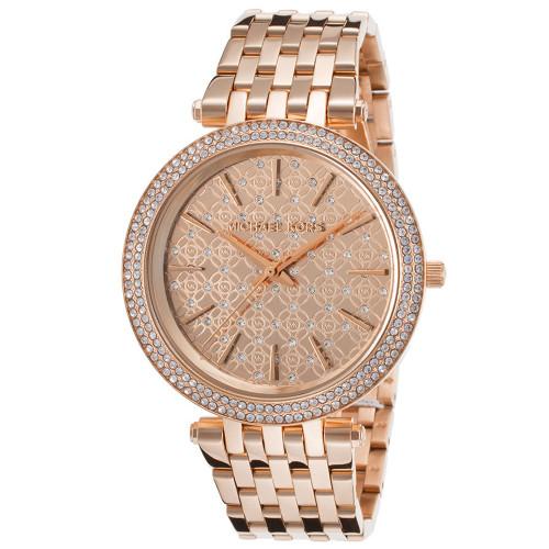 Michael Kors Darci MK3399 Crystal Rose Gold-Tone Stainless Steel Womens Watch