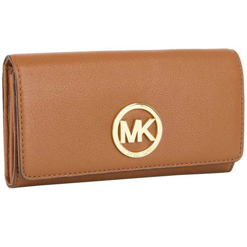 Michael Kors Fulton Carryall Luggage Genuine Leather Wallet 32F2GFTE3L