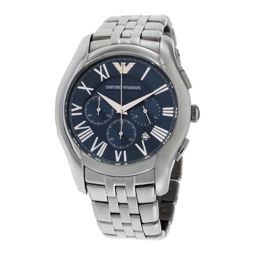 Emporio Armani AR1787 Classic Blue Dial Chronograph Stainless Steel Mens Watch