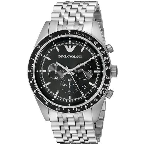 Emporio Armani AR5988 Sportivo Chronograph Stainless Steel Mens Watch