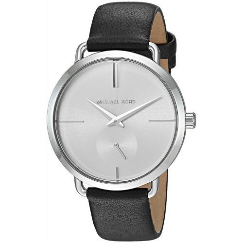 Michael Kors MK2658 Portia White Dial Black Leather Womens Watch