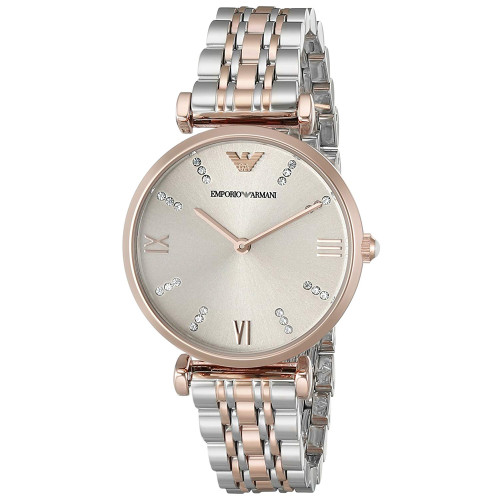 Emporio Armani AR1840 Classic Gray Dial Two-Tone Stainless Steel Womens Watch