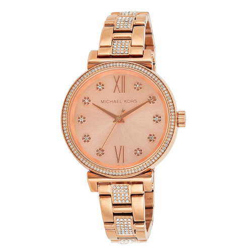 Michael Kors MK3882 Sofie Pave Crystal Rose-tone Stainless Steel Womens Watch