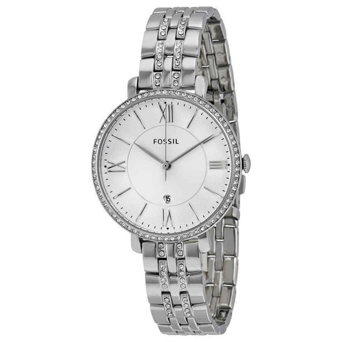 Fossil Jacqueline Crystal Stainless Steel Womens Watch ES3545
