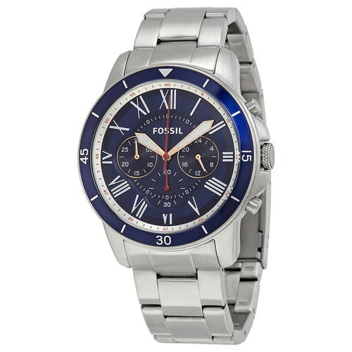 Fossil Grant Sport Chronograph Stainless Steel Mens Watch FS5238