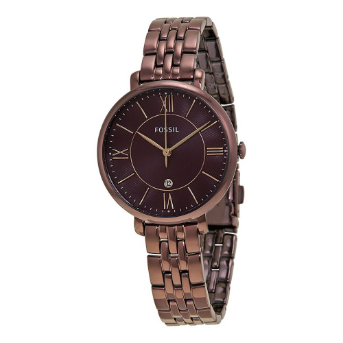 Fossil Jacqueline Wine Stainless Steel Womens Watch ES4100