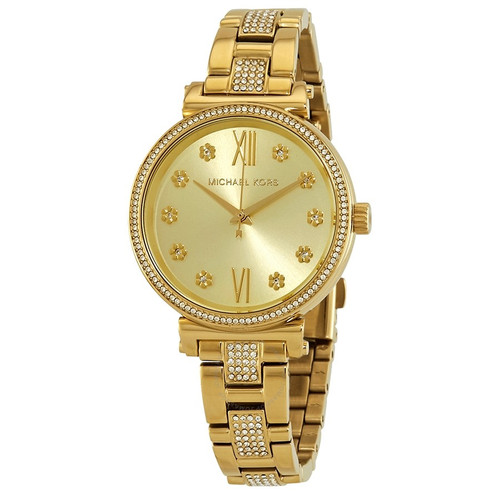 Michael Kors MK3881 Sofie Crystal Gold-tone Stainless Steel Womens Watch