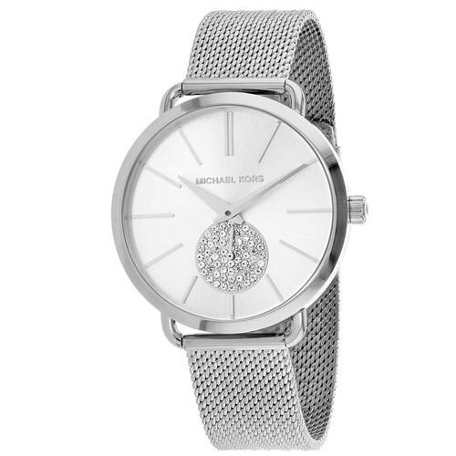 Michael Kors MK3843 Portia Crystal Stainless Steel Mesh Womens Watch