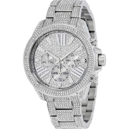 Michael Kors MK6317 Wren Crystal Stainless Steel Chronograph Womens Watch
