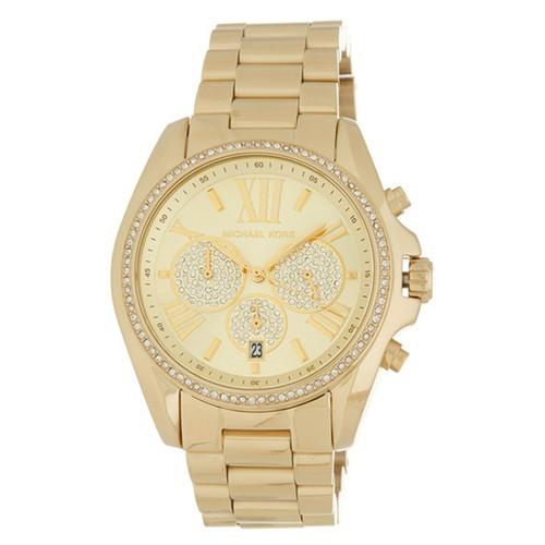 Michael Kors MK6538 Bradshaw Crystal Chronograph Gold-tone Stainless Steel Womens Watch