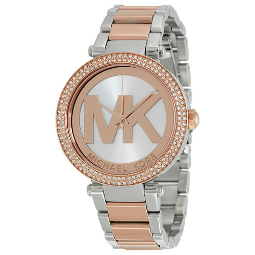 Michael Kors MK6314 Parker Crystal Two-Tone Stainless Steel Womens Watch