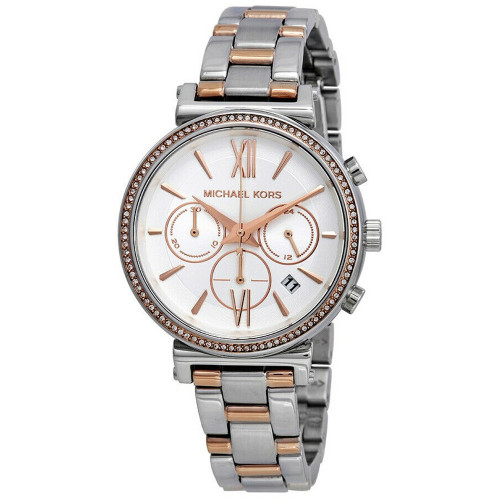 Michael Kors MK6558 Sofie Crystal Two-tone Stainless Steel Womens Watch