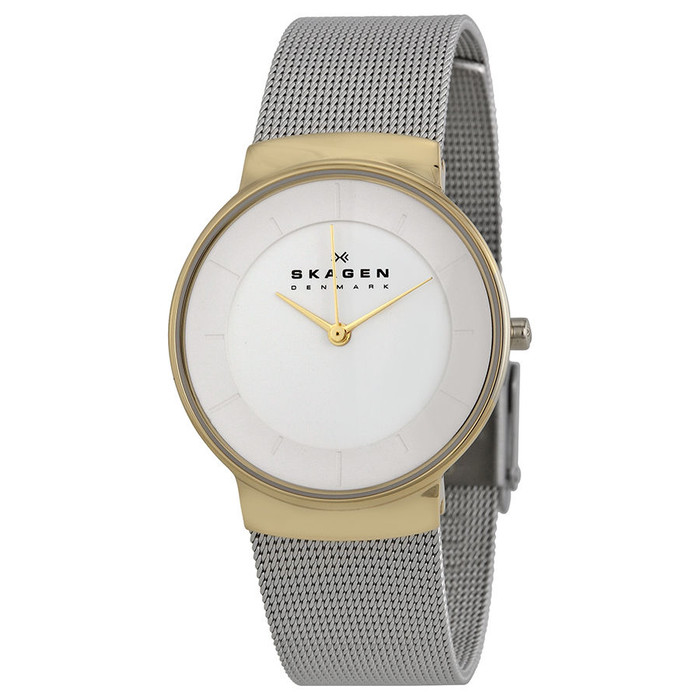 Skagen SKW2076 Nicoline Two Tone Stainless Steel Mesh Womens Watch