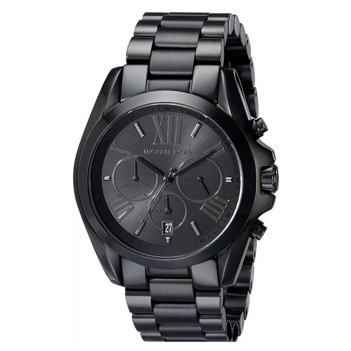 Michael Kors MK5550 Bradshaw Chronograph Black Stainless Steel Unisex Watch