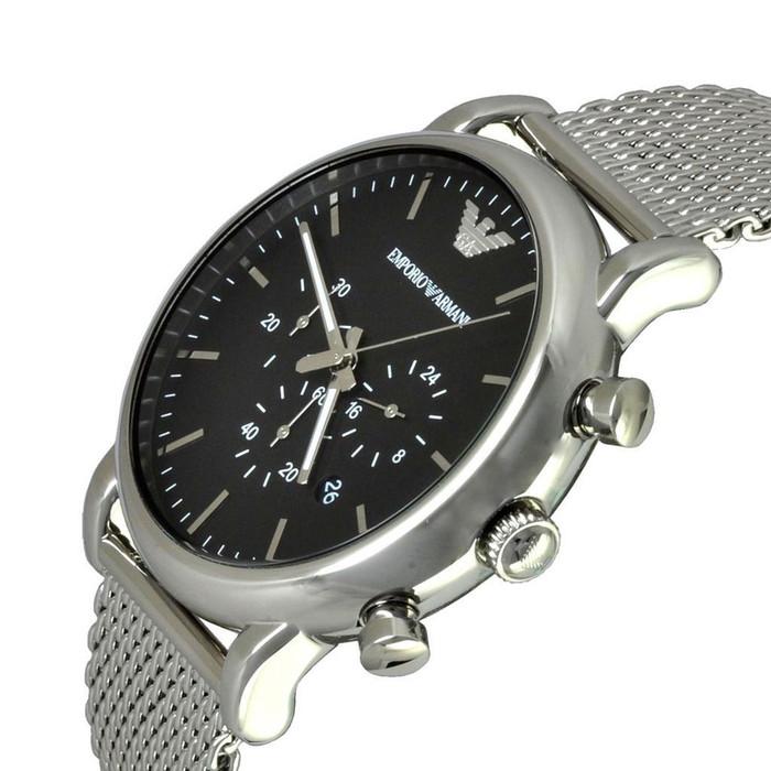 2b7c6b960e9 ... Emporio Armani AR1811 Classic Chronograph Mesh Stainless Steel Mens  Watch ...