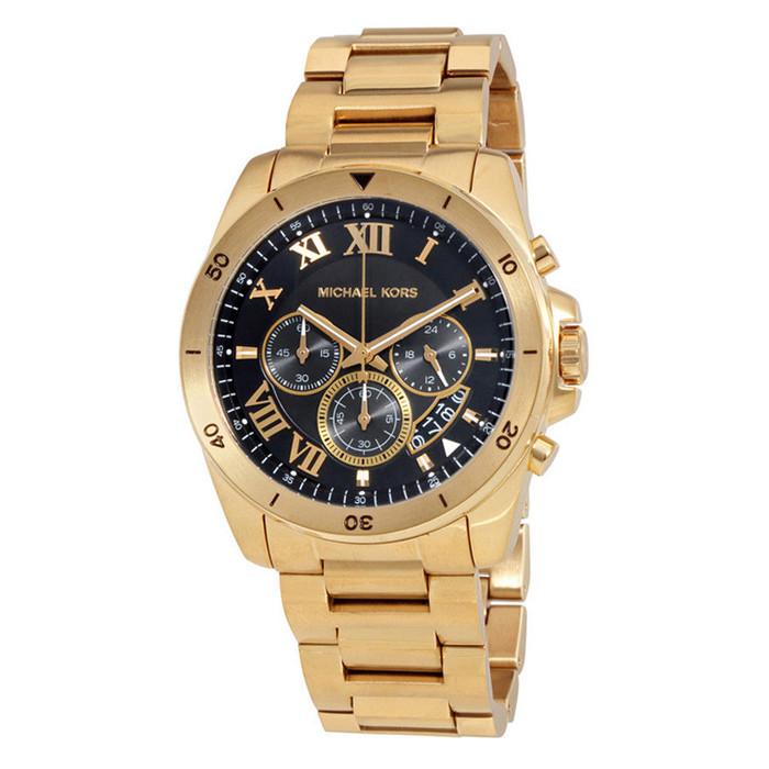 Michael Kors MK8481 Brecken Chronograph Gold-tone Stainless Steel Mens Watch