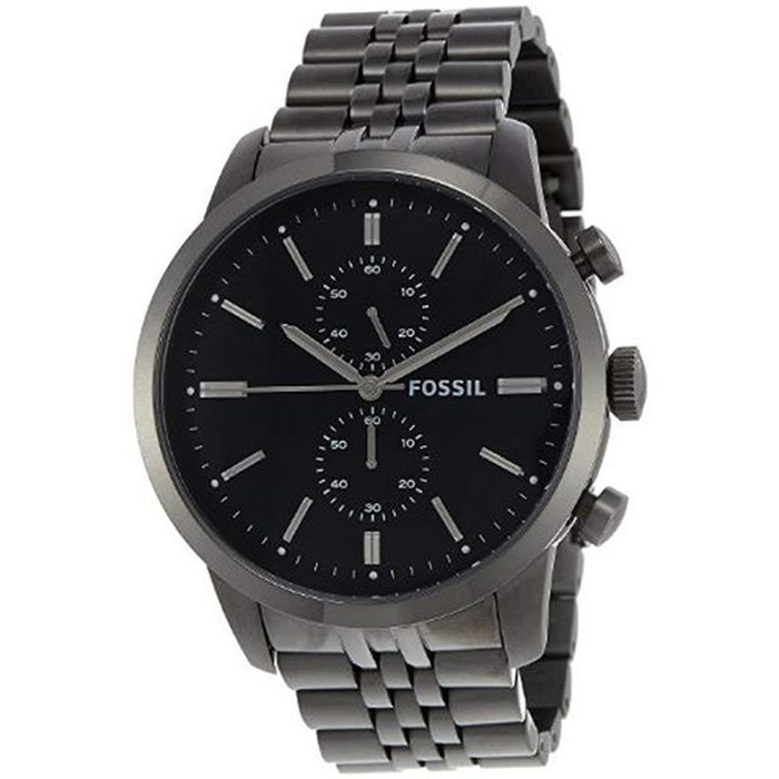 Fossil Townsman Chronograph Smoke Stainless Steel Mens Watch FS4786