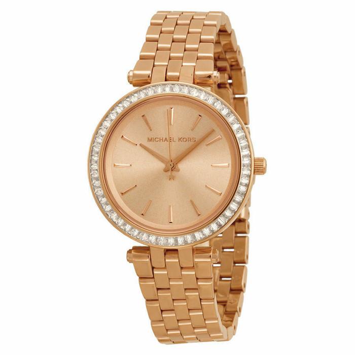 Michael Kors Mini Darci MK3366 Crystal Rose Gold-Tone Stainless Steel Womens Watch