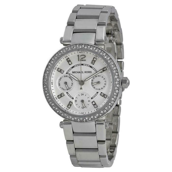 Michael Kors MK5615 Parker Crystal Multifunction Stainless Steel Womens Watch