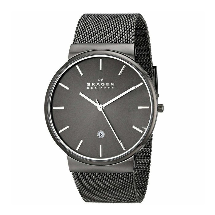 Skagen SKW6108 Ancher Gray Ion-Plated Stainless Steel Mesh Mens Watch