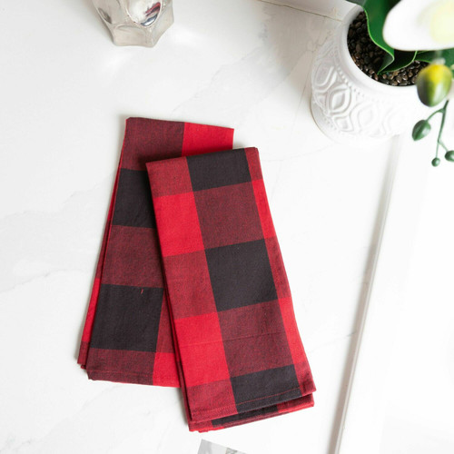 Buffalo Check Cotton Kitchen Towel - Set of 2
