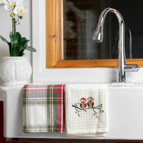 Celebration Plaid Cotton Kitchen Towel - Set of 2