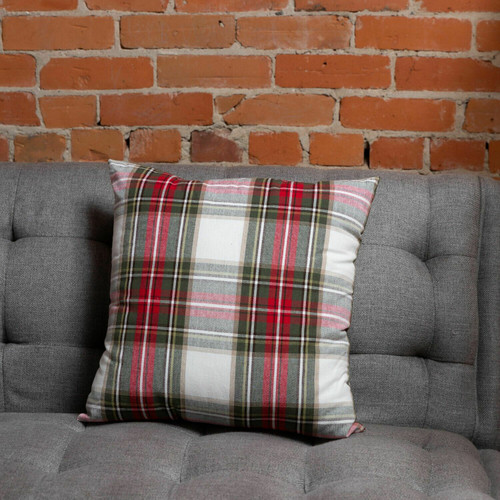 Celebration Plaid Cotton Cushion