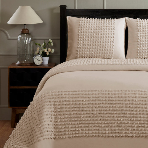 Olivia Twin Cotton Comforter - Taupe