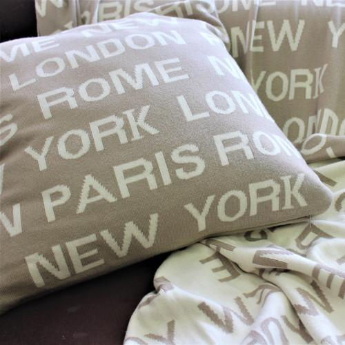 London, Paris, NY, Rome Cushion