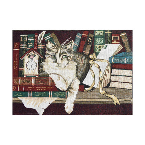 Library Cat Tapestry Placemats - Set of 6