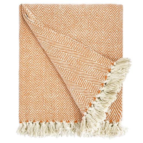 Herringbone Striped Cotton Throws