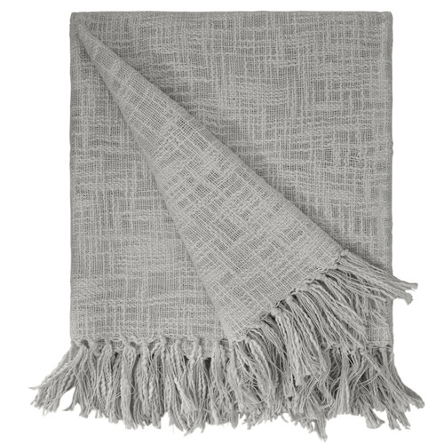 Novelty Solid Cotton Slub Yarn Throw