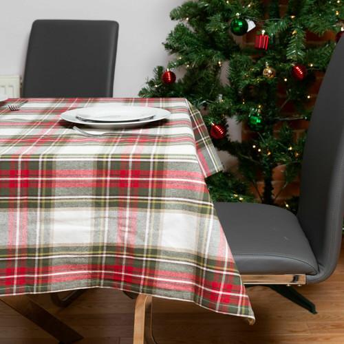 Celebration Plaid Cotton Tablecloth