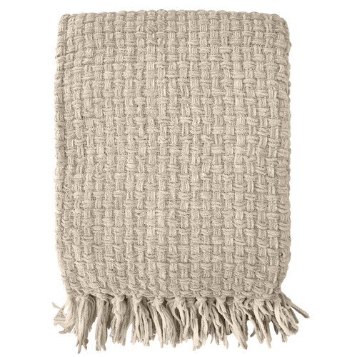 Chenille Basket Weave Throw
