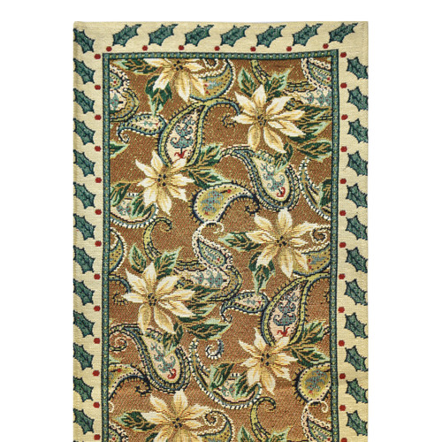 Paisley Gold Tapestry Runner and Placemat