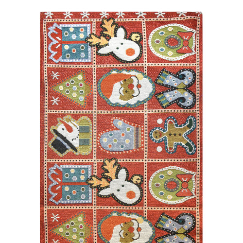 Xmas Gifts Red Tapestry Runner
