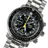 Seiko chronograph pilot watch SNA411P1 SNA411 w/ two straps