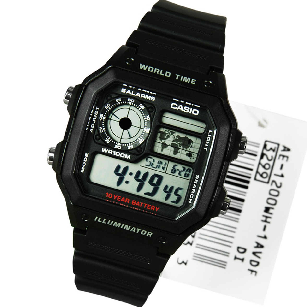 e8b9c3d22c1 Casio World Time AE-1200WH-1AVDF