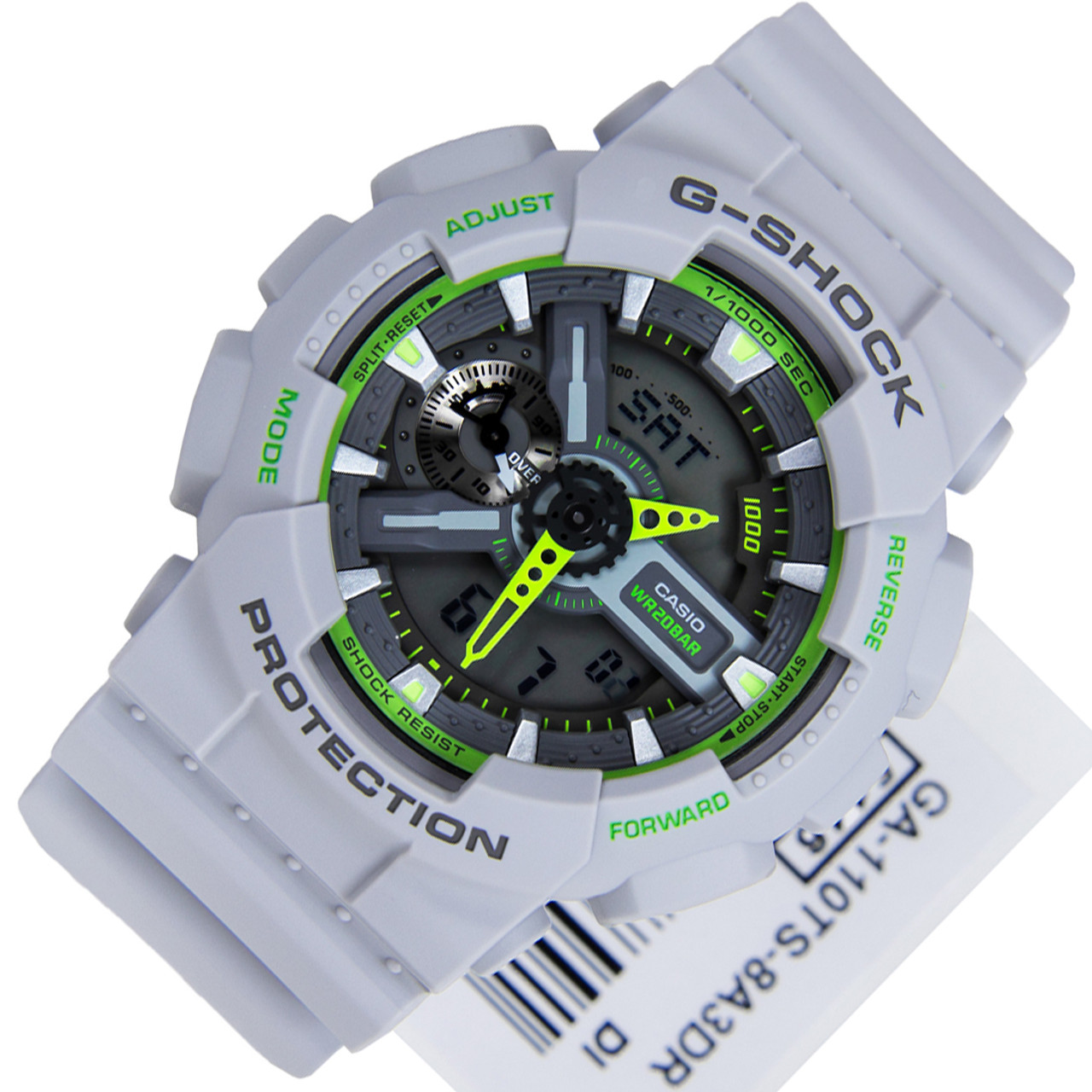 GA110TS GA-110TS-8A3 Casio G-Shock Neon Colours Grey-Green Mens df0b000c35