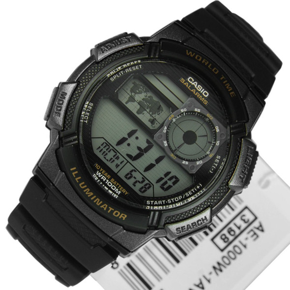 Casio AE-1000W-1A Illuminator Quartz Alarm Mens Watch