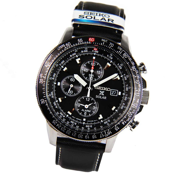 Seiko Chronograph Solar Pilot Sports Watch SSC009P3