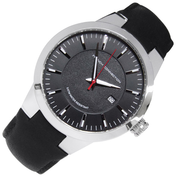 French Connection Analog Black Dial Casual Quartz Mens Watch FC1208B