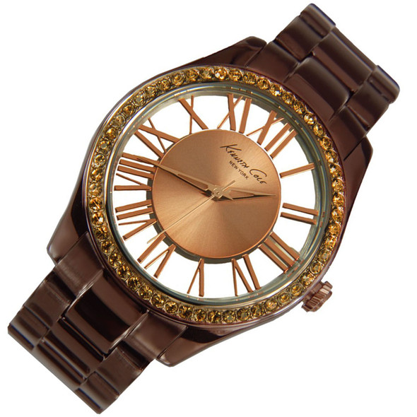 Kenneth Cole Quartz Analog Brown Ladies Dress Watch KC4859